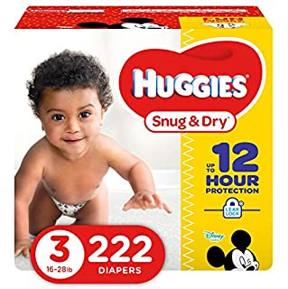 HUGGIES Snug & Dry Diapers, Size 3, 222 Count (Packaging May Vary) (B00BCXF7NO) | Amazon Products
