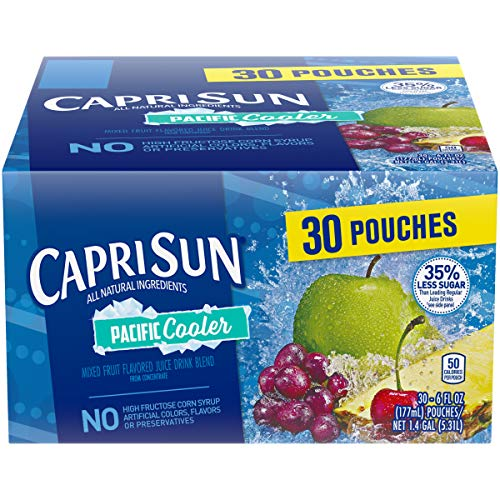 Capri Sun Pacific Cooler Juice Drink, 6 Fl Oz Pouches, Pack of 30
