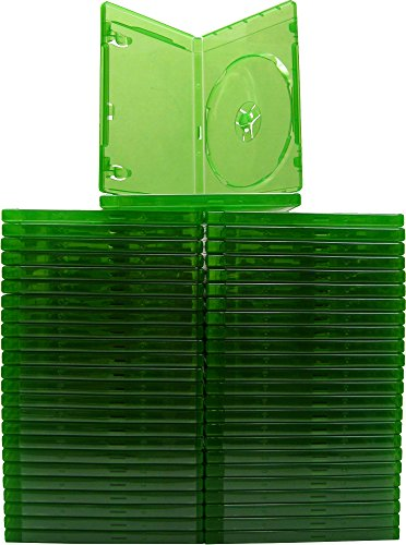 (50) XBOX ONE - Translucent Green - 12MM - Replacement Game Cases