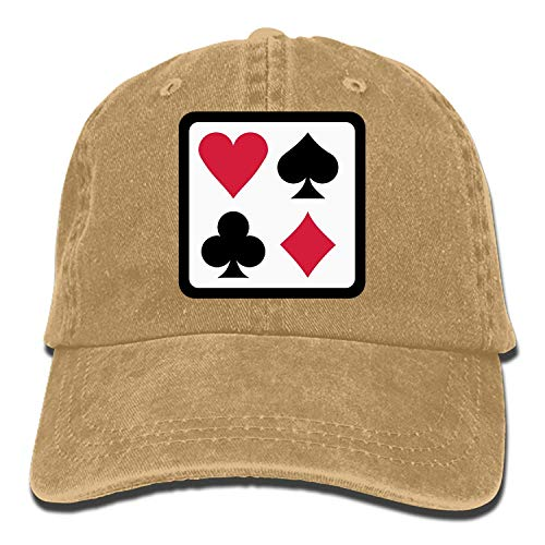 (Whenpigsfly Colorful Poker Printed Sandwich Baseball Cap Unisex Adjustable Hat Colorful Poker 2)