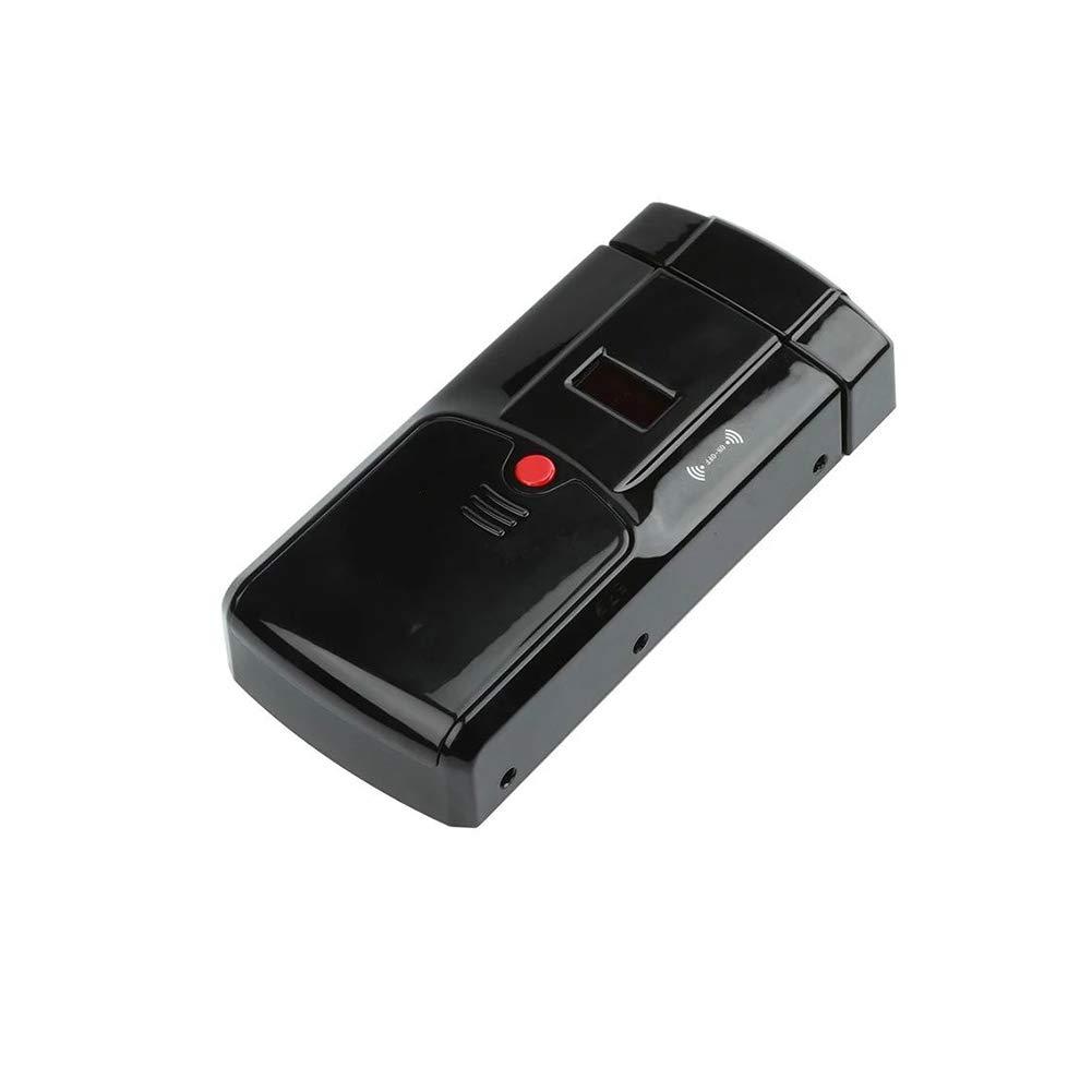 YMXLJJ Smart Door Lock Remote Control Fingerprint Door Lock Stainless Steel Non-Porous Waterproof Keyless Digital Lock Bathroom Hotel (Black),A
