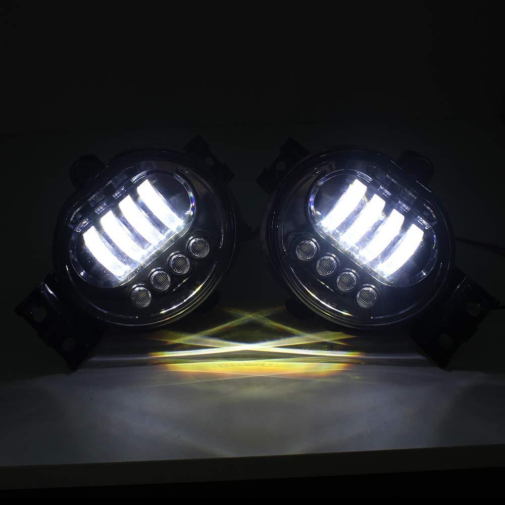 KUQIQI LED Fog Light Passing Lamps for Dodge Ram 1500 2002-2008 Dodge Ram 2500//3500 Pickup Truck Car Driving light with Daytime Running lamp Black 1 Pair