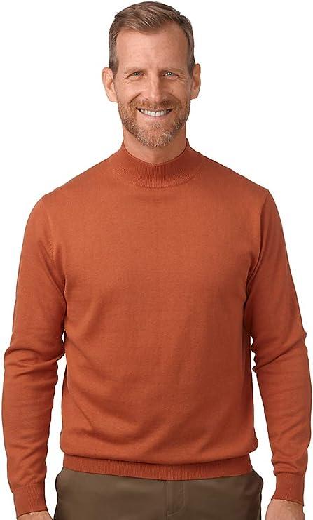 Mens Vintage Shirts – Casual, Dress, T-shirts, Polos Paul Fredrick Mens Silk Cotton Cashmere Mock Neck $57.50 AT vintagedancer.com