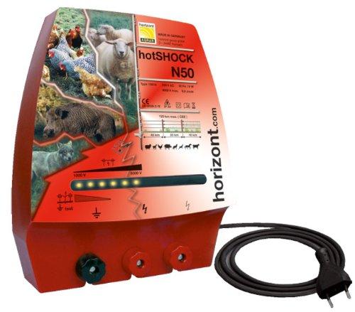 Elektrozaungerät hotSHOCK N50 mit 3 Anschlüssen *UV-geschützt, vollisoliert, spritzwassergeschützt*