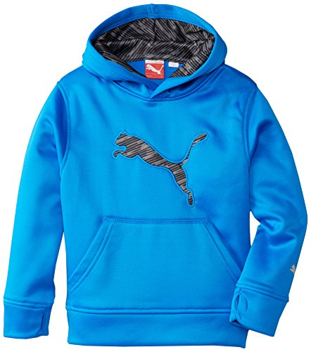 PUMA Boys' Big Cat Hoodie (Little Kid/Big Kid), Sky Blue, ()
