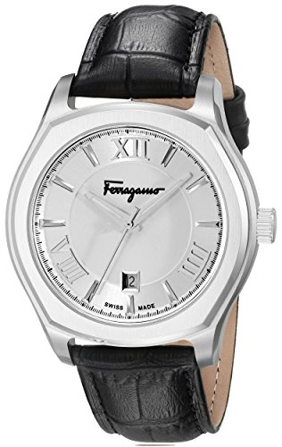 Salvatore Ferragamo Men's FQ1990015 Lungarno Stainless Steel Watch with Leather Band