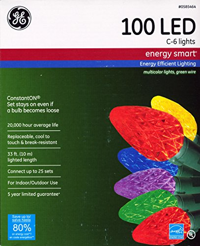 Ge 100 Count Multicolor Led Christmas Icicle Lights - 3