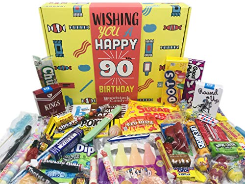 Happy 90th Birthday Candy Gift Basket - Free Shipping
