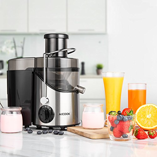 Juicer, Juice Extractor, Aicook Juicer Machine With 3'' Wide Mouth, 3 Speed Centrifugal Juicer For Fruits & Vegs, With Non-slip Feet, Bpa-free