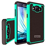 Fancycellexpress Teal Heavy Duty Hybrid Hard Silicone Case Cover for Samsung Galaxy A5 2015 SM-A500W