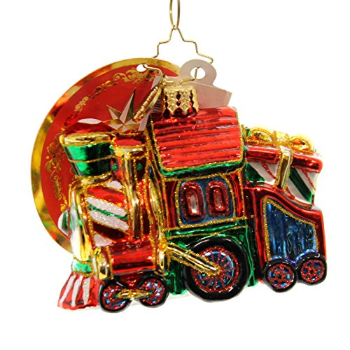 Christopher Radko Sweet Chuggin' Along Little Gem Christmas Ornament