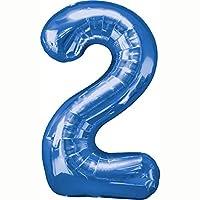 Blue #2 Shaped 34 Foil Balloon