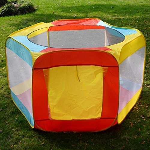New Baby Safety Playpen Toddler Creeping Play Yard Kids Folding Play Tent Indoor ()