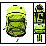 Hi-Viz Yellow Backpack / Rucksack Cycling or Schoolbag with Safety Reflective sections