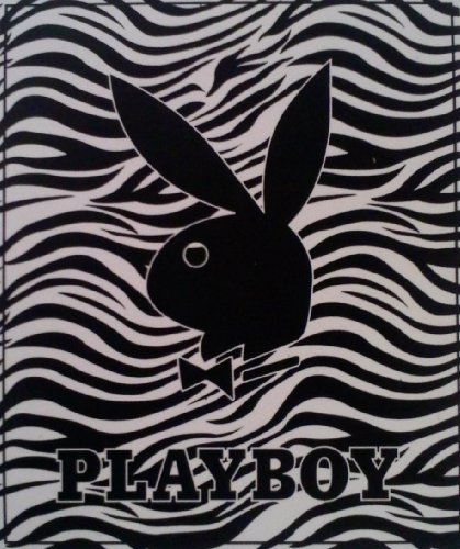 Playboy Rabbit Bunny - New Licensed Original PLAYBOY BUNNY RABBIT Queen Size Mink Blanket Zebra