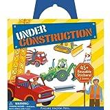Peaceable Kingdom / Sticker Fun! 'Under Construction' Reusable Sticker Tote