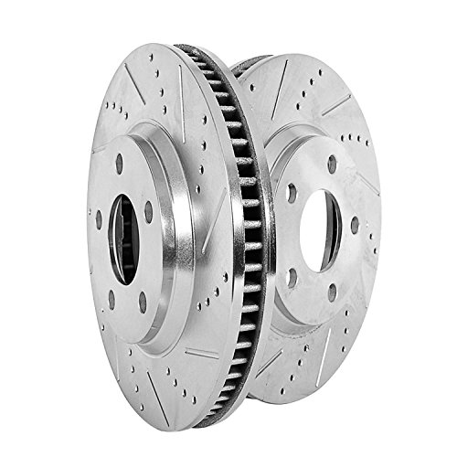 [Power Stop AR8680XPR Front Evolution Drilled & Slotted Rotor Pair] (Ss Only Slotted Rotors)