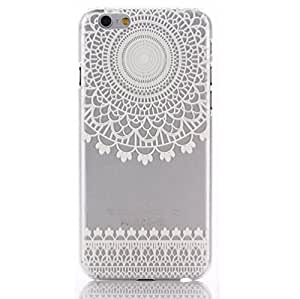 EVERMARKET(TM) Clear Henna Mandala Sun Lace Tribal Vintage TPU Soft Rubber Case Cover for Apple iPhone 6 Plus 5.5 Inch