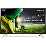 "Smart TV LED 32"" HD Android SEMP 32S5300, Conversor Digital, Wi-Fi, Bluetooth, 1 USB, 2 HDMI, Comando de Voz e Google Assista"