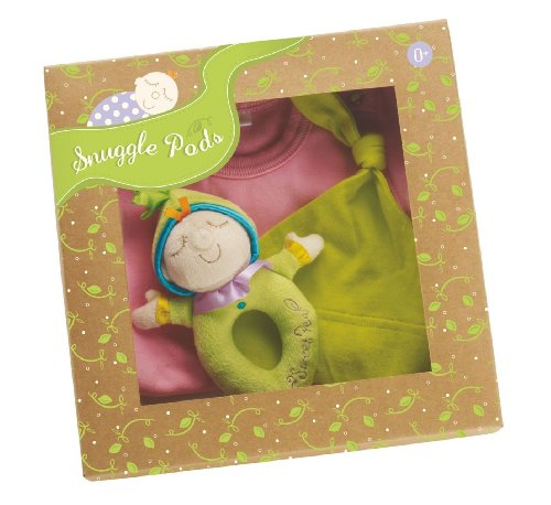 Manhattan Toy Snuggle Pods Onesie Gift Set, Sweet Pea Pink -