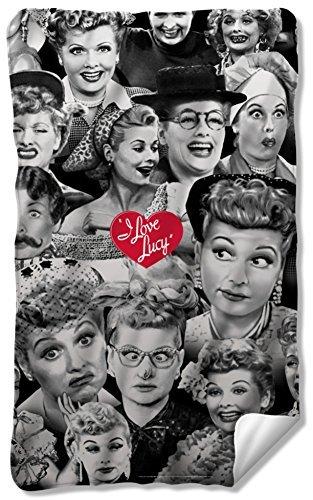 I Love Lucy - Faces Fleece Blanket 35 x -