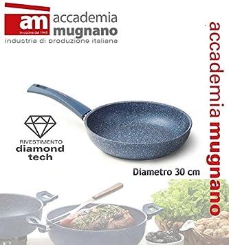 Sartén 30 cm efecto piedra Antiadherente revestimiento Diamond Tech GRANITO BLU: Amazon.es: Hogar