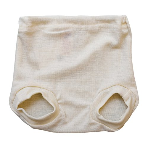 Pull on Diaper Cover for Baby Boys and Girls, 100% Organic Merino Wool Knit (74-80cm/ 6-12 months)