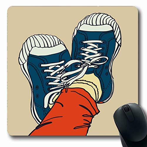 - Ahawoso Mousepads Art Canvas Colored Pattern Gym Shoes Sole Graffiti Gumshoes Adolescence Cool Painting Design Street Oblong Shape 7.9 x 9.5 Inches Non-Slip Gaming Mouse Pad Rubber Oblong Mat