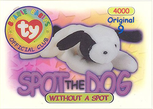 BBOC Cards TY Beanie Babies Series 1 Original 9 (Blue) - SPOT The Dog (Without spot)