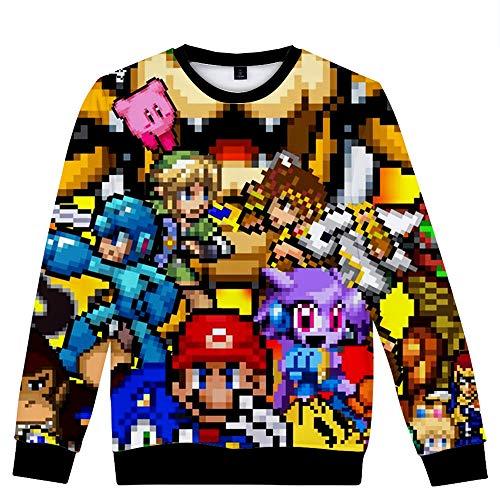 Uomo Casual E Sweatshirt A09 3d Moda Stampa Collo Donne Unisex Velluto Super Manica Rotondo Lunga Più Pullover Mario Per avwqXfxZ