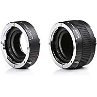 Movo MT-P56 2-Piece AF Chrome Macro Extension Tube Set for Pentax K DSLR Camera with 20mm, & 36mm Tubes