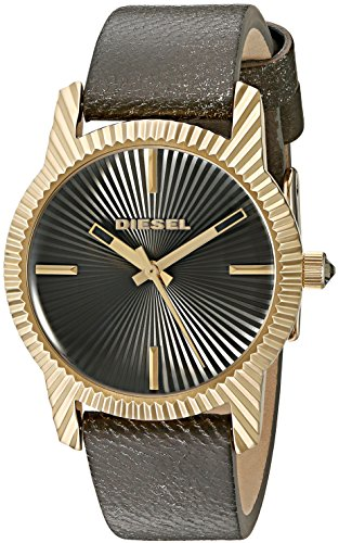 Diesel Women's 'Bitty' Quartz Stainless Steel and Leather Automatic Watch, Color:Grey (Model: DZ5513)