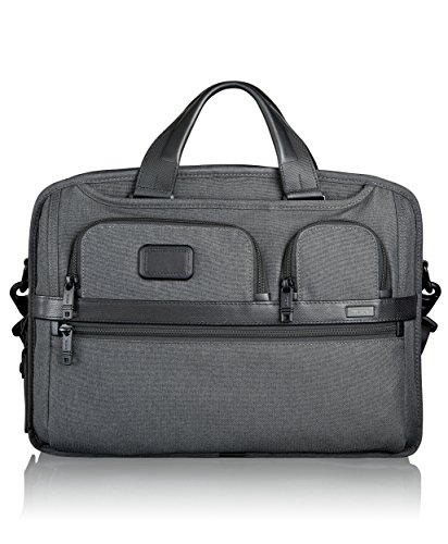 Tumi Alpha 2 T-Pass Medium Laptop Slim Brief, Anthracite