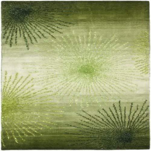 Safavieh Soho Collection SOH712G Handmade Fireworks Green and Multicolored Premium Wool Runner (2'6