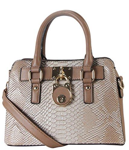 Rimen & Co. PU Leather Front Lock Décor Top Handle Mini Handbag Womens Purse Cross Body SD-3630 SW-3608