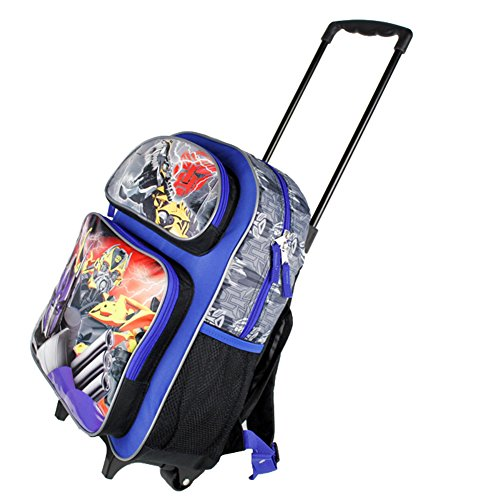Full Size Blue Transformers Age of Extinction Rolling Backpack in ...