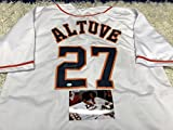 Jose Altuve Autographed Signed Houston Astros White Jersey GTSM Altuve Hologram & COA W/Photo Of Signing
