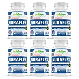 XINNORA Nuraflex - Glucosamine with Chondroitin Turmeric MSM Boswellia - Joint Support & Flexibility Supplement - Anti-Inflammatory & Antioxidant Pills for Your Back, Knees, Hands 60 Caps x 6 BTLs