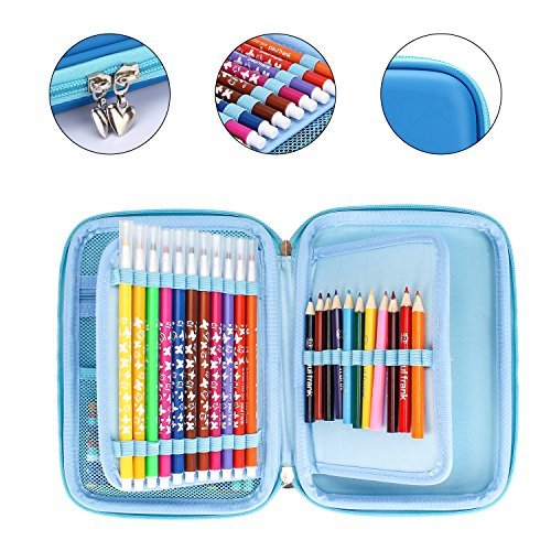 ELOKI Pencil Case 48 Slots Storage Pencil Organizer Pen Bag Wrap Case Watercolor Pencil Pouch Holder Student Stationery for Apple Pencil, Executive Fountain Pen, Ballpoint Pen, Gel pen