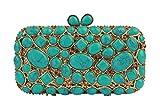 Yilongsheng Women's Shining Scattering Rhinestone Cobblestone Party Handbags and Clutch Bags-Green
