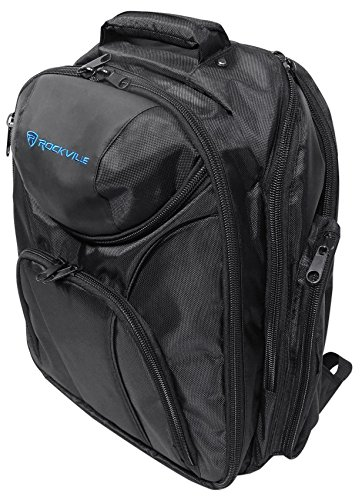 (Rockville DJ Laptop/Gear Travel Backpack Bag w/ Headphone Compartment+Dividers)