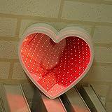 Rockrok Heart Shape LED Tunnel Night Light Novelty Mirror Home Party Decor Gift