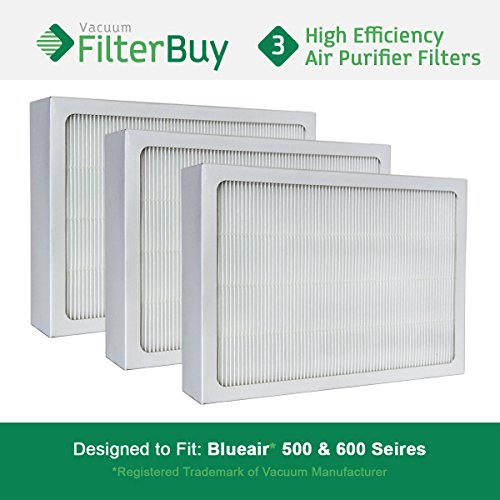 3 FilterBuy Particle Filters Designed by FilterBuy to fit Blueair 500 & 600 Series Air Purifiers.