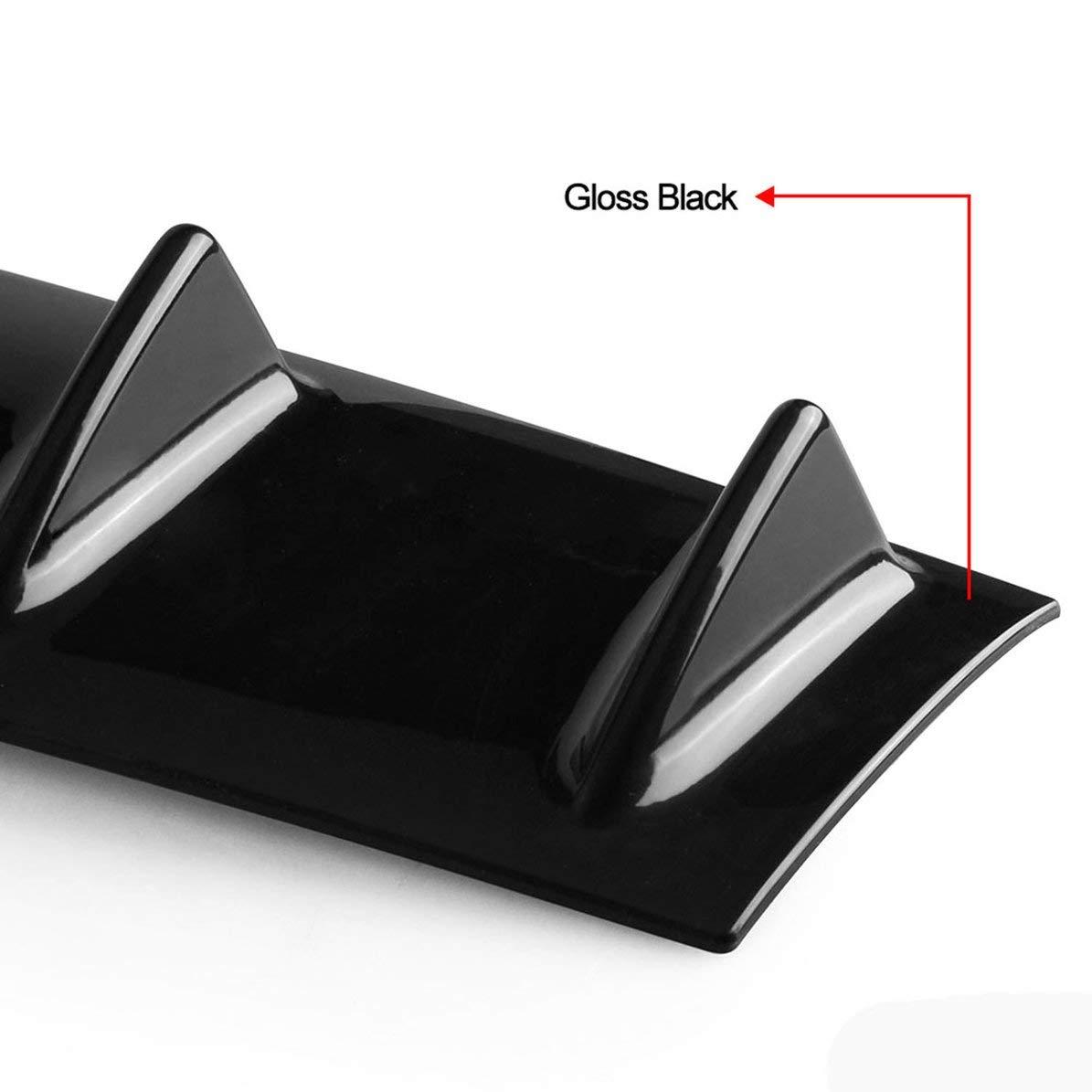 Universal Auto Hecksch/ürze Lip Diffusor 5//3 Fin Gloss Schwarz ABS Kunststoff Car-Styling Hecksch/ürze Lip Diffusor
