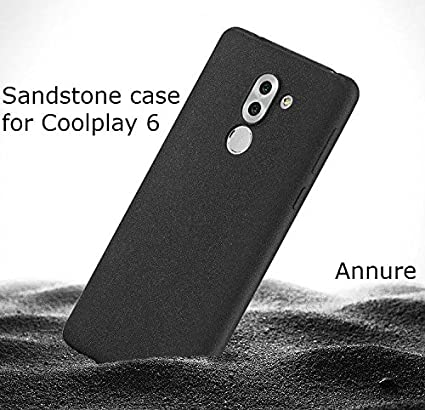 Annure Coolpad Cool Play 6 CoolPlay 6 Back Cover Case Sandstone Touch  Premium Quality [Black]