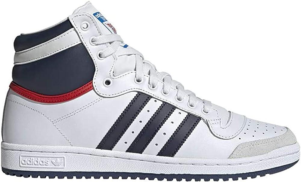 adidas Top Ten Hi - Zapatillas unisex para adulto, de moda, Blanco ...