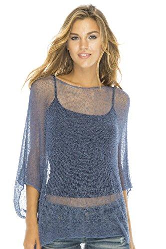 Blouson Top Lite Sleeves Blue Jean