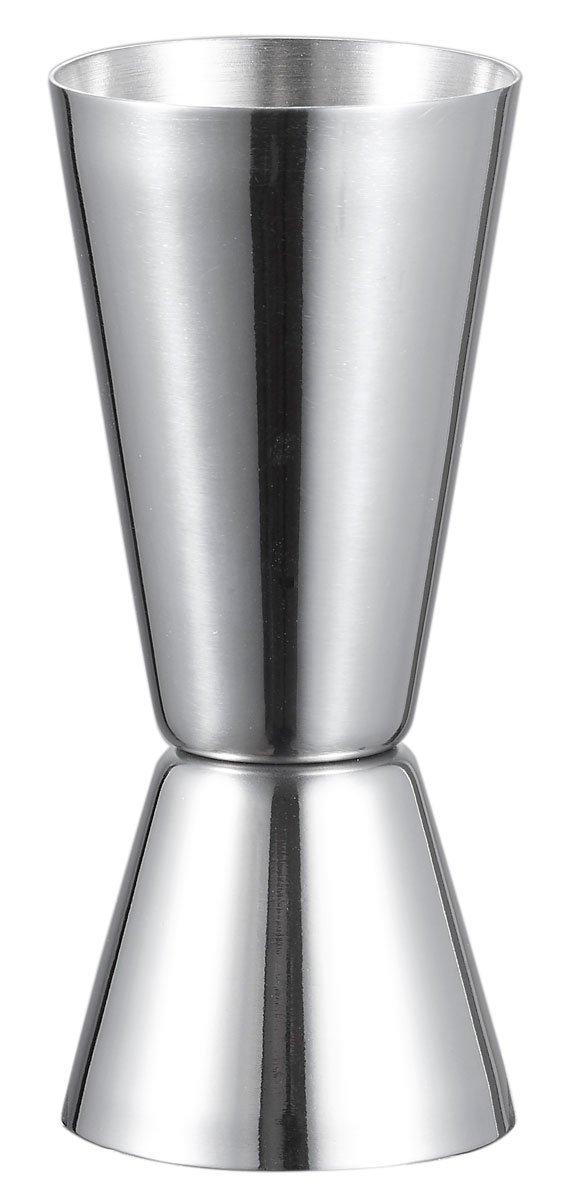 Visol Narrowed Josset Stainless Steel Double Jigger Silver VAC231