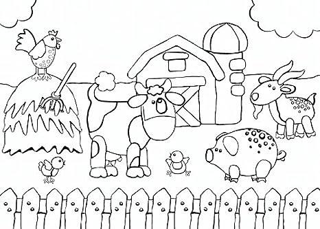 Tovagliette In Carta Da Colorare Animal 24 Pz Amazonit Giochi E