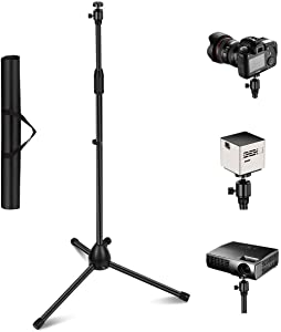 """Projector Stand, Thustar Lightweight Adjustable Tripod Floor Stand Holder & 360°Swivel Ball Head with Height 29.5"""" to 55.1"""" for Projector, Small Camera,Webcam,GoPro with Carry Bag"""